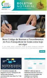 Boletim Notarial Semanal Edição Nº 22